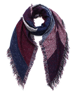 Oversized Color Block Scarf or Wrap or Shawl Bo... - $24.99