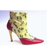 Deck the Heels Christmas Holly & Red Rhinestone... - $129.99
