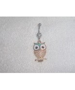 Cute Green Owl Charm Navel Belly Ring Body Jewe... - $5.95