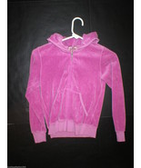 New Girls Juicy Couture Velour Pink Purple Hood... - $41.40