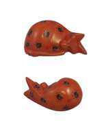 Sleeping Cat Figurine Orange Happy Swirls Hand ... - $23.27