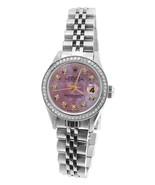 Perpetual Rolex date just pink dial bezel SS ju... - $3,618.89