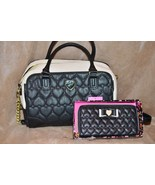 Betsey Johnson Bow Quilted Heart Wrap Satchel H... - $109.99