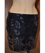 NWT XS EXPRESS Sexy Leopard Ombre SEQUIN MINI S... - $27.99