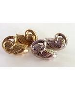2 Pair Silver Tone & Gold Tone VINTAGE AVON GRA... - $7.83