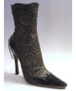 Lace It Up in Black Boot Carlton Cards Exclusive MINT Just the Right Shoe NEW - $99.99