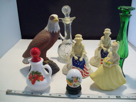 Collection of 8 Avon Perfume bottle holders and... - $39.59