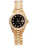 Rolex reloj estilo presidencial diamante negro ... - $5,973.39