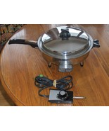 Webalco Stainless Steel Electric Skillet 7230E ... - $65.00
