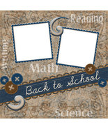 School Days Digital Scrapbooking Quick Page Layout - $3.00