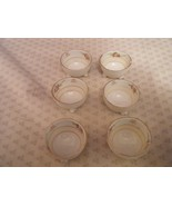 NIPPON SALT CELLARS HAND PAINTED FOOTED SET OF SIX - $6.00