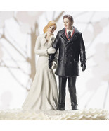 Winter Wonderland Wedding Couple Cake Topper Fi... - $34.64