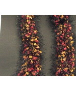 Handknit Retro Scarf or Boa Extra Long Jungle B... - $5.50