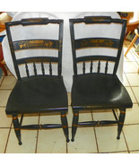 Pair of Hand Painted Hitchcock Sidechairs / Cha... - $499.00