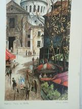 Paris Montmatre Ortiz Alfau Signed Print (Place... - $44.10