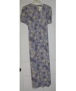 Blue Floral Linen Miss Dorby Long Dress Sz 10 - $30.00