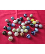 37 Old Glass Marbles Various Makers? - $26.99