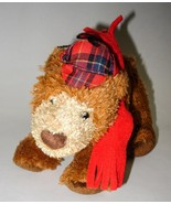 Douglas Brown Bear Hat Scarf Plush Stuffed Anim... - $6.98