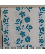 Cotton Fabric, White Blue Flowers, Sewing, 3 yd... - $9.95
