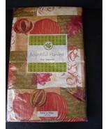 Fall Themed Vinyl Tablecloth 52x70 Oblong Pumpk... - $6.99