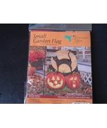 Black Cats and Pumpkin Garden Flag by Hummingbi... - $3.99