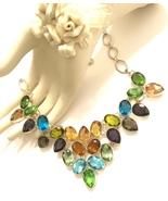 Multi-Gemstone 925 Sterling Silver Necklace - $80.00