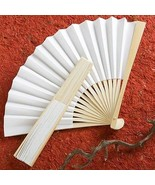 100 Elegant White Fans Wedding Favor Gift Party... - $85.12