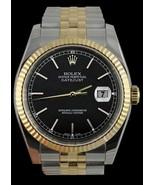 Hombres Datejust reloj de marcación palo negro ... - $3,451.64