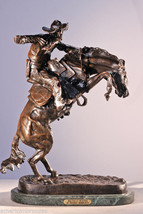 Bronco Buster Lost Wax Bronze Collectible Sculp... - $325.00