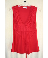 Piper & Blue Womens Red Sleeveless Summer Top  ... - $5.99