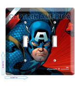 CAPTAIN AMERICA SUPER HERO DOUBLE LIGHT SWITCH ... - $10.79