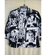 Keren Hart Tapestry Lightweight Button Front Ja... - $14.99