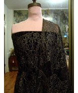 4panels FRENCH CHANTILLY LACE METALLIC GOLD OUT... - $200.00
