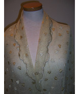 IMPORTED LACE FABRIC EMBROIDERED METALLIC GOLD ... - $75.00