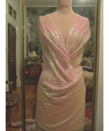 5yds SHEER STRETCH PALE PINK MESH FABRIC COVERE... - $100.00
