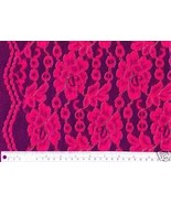GORGEOUS SHOCKING PINK LACE FABRIC ACCENTED W/ ... - $82.00