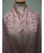 STUNNING SILKY DUSTY ROSE SCALLOPED EMBROIDERED... - $85.00