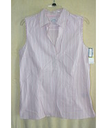 Dockers Pink Sleeveless Striped Cotton Summer S... - $6.99