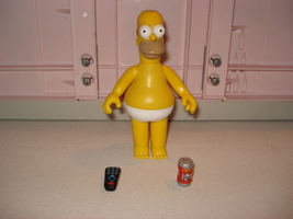 PLAYMATES TOYS THE SIMPSONS CASUAL HOMER SIMPSO... - $6.00
