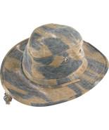 Henschel Cotton Oilcloth 10 Point Hat Crush Flo... - $42.00