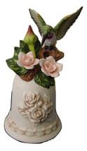 Humming Bird & Flowers Porcelain Bell - $27.00