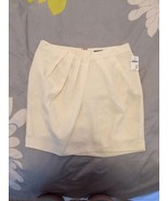 GAP Ivory Silk Like Mini-skirt W/gathered Waist... - $12.99