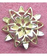 classic gold tone Flower earrings © Sarah Cov - $7.00