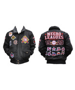 Negro Leagues Baseball Leather Jacket Vintage S... - $275.49