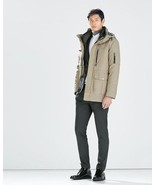ZARA MAN BEIGE PARKA w/ DETACHABLE BOTTOM DOWN ... - $129.00