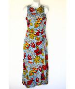 Kay Unger New York Silk Floor Length Dress Trop... - $75.00