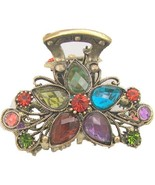 Multi-Color Rhinestone Metal Hair Claw Clip HC1... - $13.85