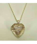 Vintage Monet Necklace Scroll Detailed Euro Hea... - $18.80