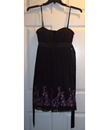Women's Size M Spaghetti Strap Black Dress Knee... - $24.99