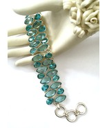 Handmade 925 Sterling Silver and Blue Topaz Bra... - $76.00